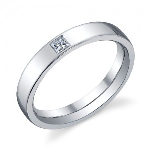 240810 Christian Bauer Platinum Diamond  Wedding Ring / Band