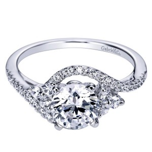 Gabriel 14 Karat Contemporary Engagement Ring ER5330W44JJ