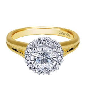 Gabriel 14 Karat Contemporary Engagement Ring ER6941M44JJ