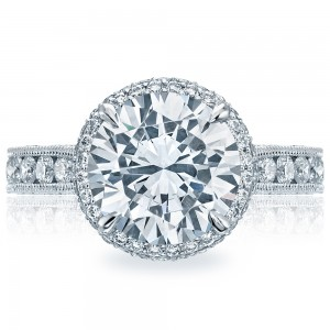 Tacori HT2609RD10 18 Karat RoyalT Engagement Ring