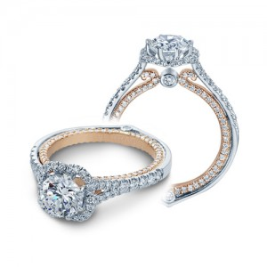 Verragio Couture-0427DR-TT 18 Karat Engagement Ring