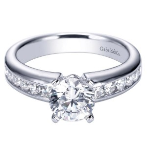 Gabriel 14 Karat Contemporary Engagement Ring ER3986W44JJ