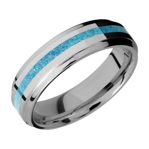 Lashbrook 6B12(S)/MOSAIC Titanium Wedding Ring or Band