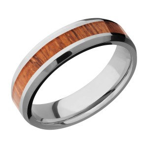 Lashbrook 6B13(NS)/HARDWOOD Titanium Wedding Ring or Band