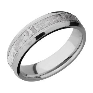 Lashbrook 6B13(NS)/METEORITE Titanium Wedding Ring or Band