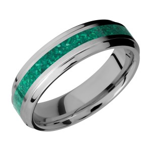 Lashbrook 6B13(S)/MOSAIC Titanium Wedding Ring or Band