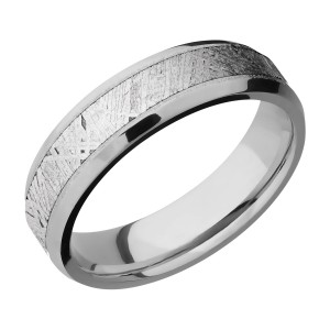 Lashbrook 6B14(NS)/METEORITE Titanium Wedding Ring or Band