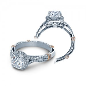 Verragio Parisian-DL106R Platinum Engagement Ring