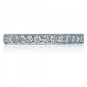 41-25 Platinum Tacori Sculpted Crescent Diamond Wedding Ring