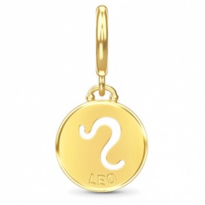 Endless Jewelry Leo Zodiac Coin 18k Gold Plated Charm 53346-5