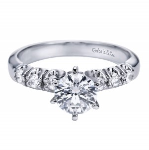 Gabriel Platinum Contemporary Engagement Ring ER1718PT3JJ