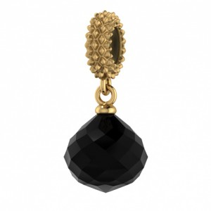 JLo Collection Endless Jewelry Black Mysterious Drop 18k Gold Plated Charm 3801-2