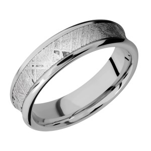 Lashbrook 6CB14/METEORITE Titanium Wedding Ring or Band