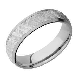Lashbrook 6D14/METEORITE Titanium Wedding Ring or Band