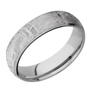 Lashbrook 6D15/METEORITE Titanium Wedding Ring or Band
