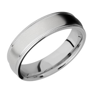 Lashbrook 6DMIL Titanium Wedding Ring or Band