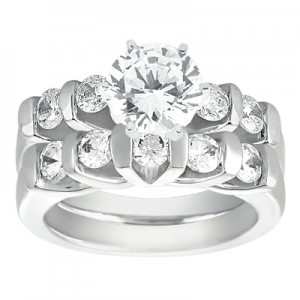 Taryn Collection Platinum Diamond Engagement Ring TQD A-292