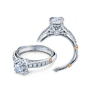 Verragio Parisian-101L Platinum Engagement Ring