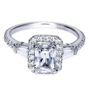 Gabriel 14 Karat Contemporary Engagement Ring ER8354W44JJ