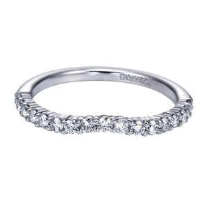 Gabriel 14 Karat Contemporary Wedding Band WB6941W44JJ