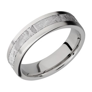 Lashbrook 6F13/METEORITE Titanium Wedding Ring or Band