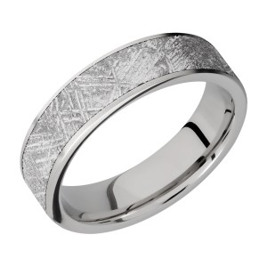 Lashbrook 6F15/METEORITE Titanium Wedding Ring or Band