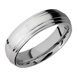 Lashbrook 6F2S Titanium Wedding Ring or Band