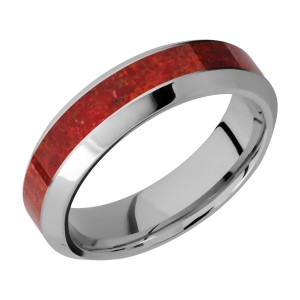 Lashbrook 6HB13/MOSAIC Titanium Wedding Ring or Band