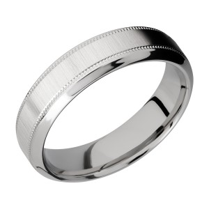Lashbrook 6HB2UMIL Titanium Wedding Ring or Band