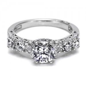 Tacori Dantela Platinum Engagement Ring 2629RD65