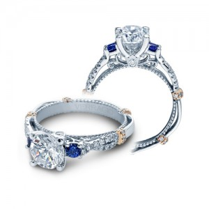 Verragio Parisian-CL-DL129R Platinum Engagement Ring