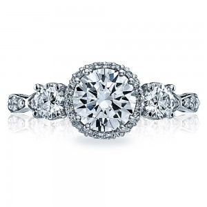 54-2RD65 Platinum Tacori Dantela Engagement Ring