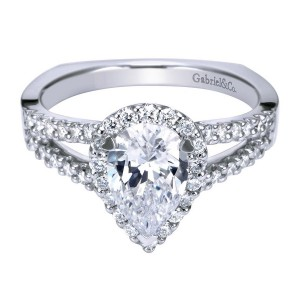 Gabriel 14 Karat Contemporary Engagement Ring ER7743W44JJ