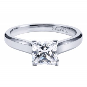 Gabriel Platinum Contemporary Engagement Ring ER6576PTJJJ