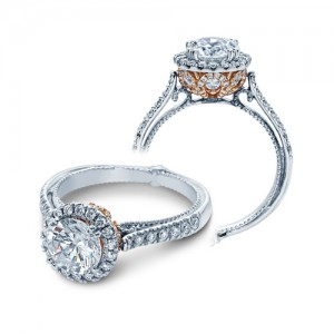 Verragio Couture-0433DR-TT 14 Karat Engagement Ring