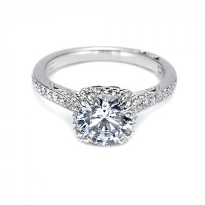 Tacori Platinum Dantela Engagement Ring 2620RDPTP