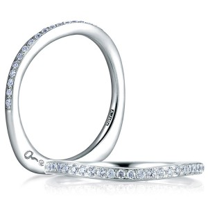 A.JAFFE Seasons of Love Collection Signature Platinum Diamond Wedding Ring MRS332 / 19