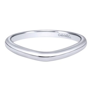 Gabriel 14 Karat Contemporary Wedding Band WB10776W4JJJ
