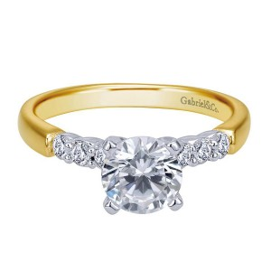 Gabriel 14 Karat Contemporary Engagement Ring ER7847M44JJ