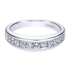 Gabriel 14 Karat Contemporary Wedding Band WB1736W44JJ
