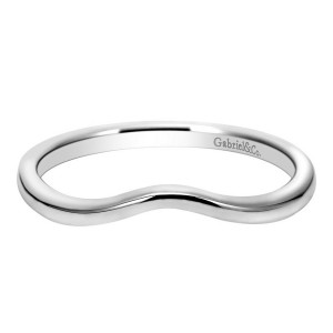 Gabriel 14 Karat Contemporary Wedding Band WB7764W4JJJ