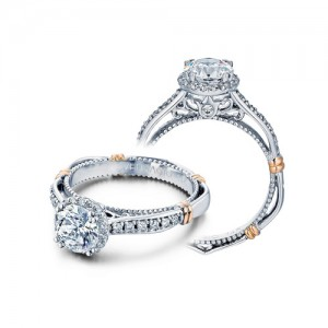 Verragio Parisian-104R Platinum Engagement Ring