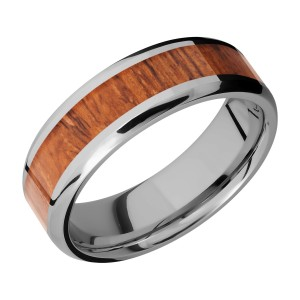 Lashbrook 7B14(NS)/HARDWOOD Titanium Wedding Ring or Band