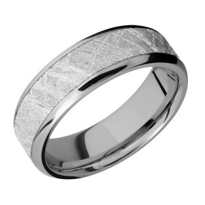 Lashbrook 7B15(NS)/METEORITE Titanium Wedding Ring or Band
