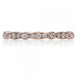 Tacori 47-2ETPK 18 Karat Sculpted Crescent Diamond Wedding Band