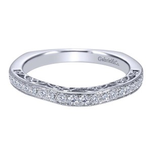 Gabriel 14 Karat Contemporary Wedding Band WB6101W44JJ
