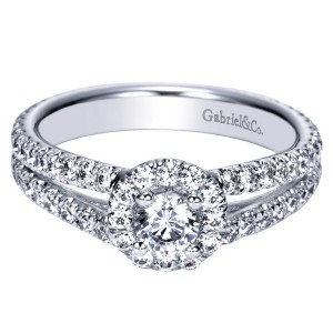 Gabriel 14 Karat Contemporary Engagement Ring ER98507W44JJ