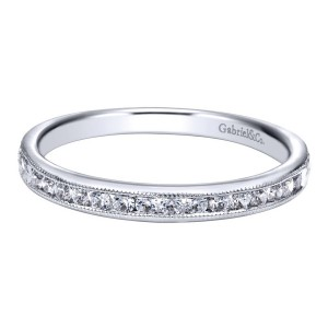 Gabriel 14 Karat Contemporary Wedding Band WB10945W44JJ