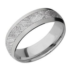 Lashbrook 7D14/METEORITE Titanium Wedding Ring or Band