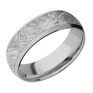 Lashbrook 7D15/METEORITE Titanium Wedding Ring or Band